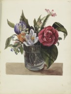 Painting of a glass of flowers
