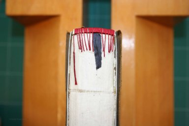 Album Spine During Conservation