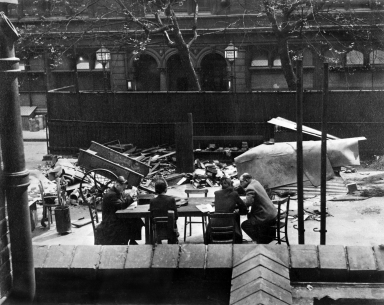Bomb damage to Birkbeck Library