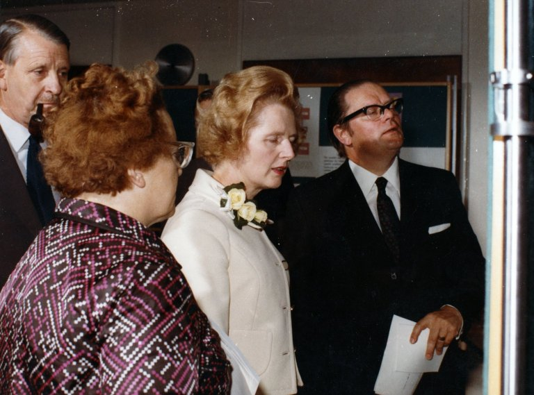 Margaret Thatcher at Birkbeck Open Day