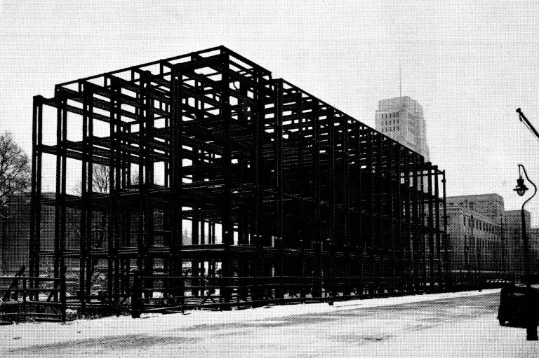 Steel Frame Construction of the Malet Street Building