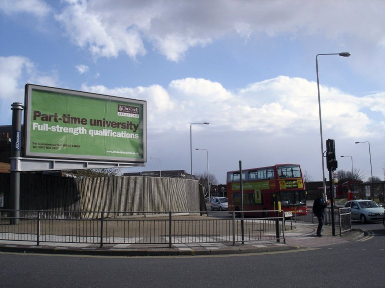 Billboard Advertising Birkbeck Stratford