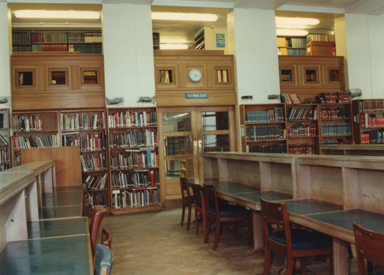Library at Malet Street Before Renovations