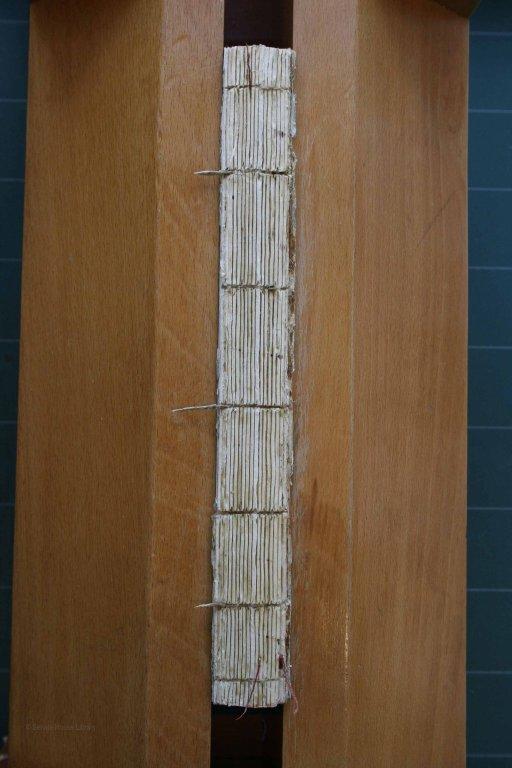 Album Spine During Conservation
