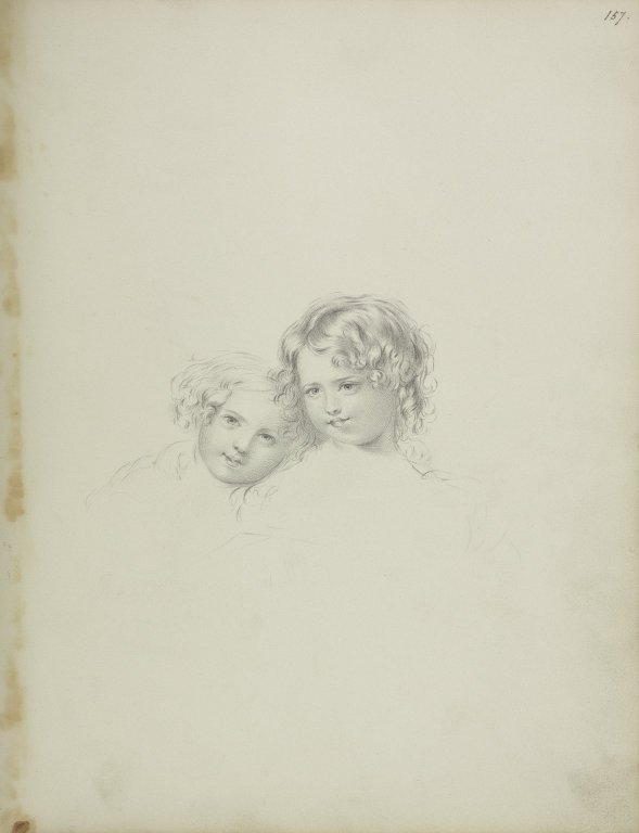 Drawing of two children