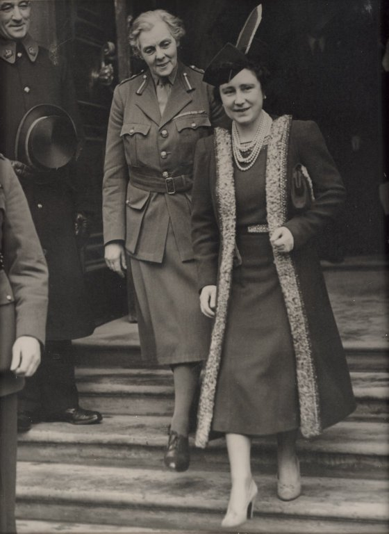 Queen Elizabeth The Queen Mother and Helen Gwynne-Vaughan
