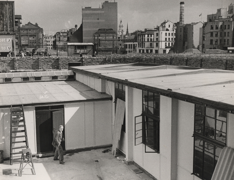 Temporary Classrooms at Birkbeck College during the Second World War