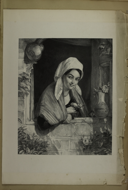 Woman Leaning on a Windowledge