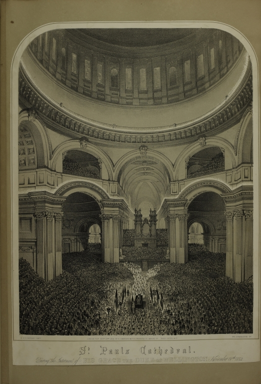 St. Pauls Cathedral: During the Internment of His Grace the Duke of Wellington