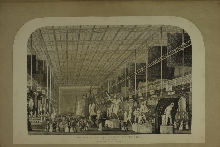 Interior of the Great Exhibition Looking West from Dante's Temple