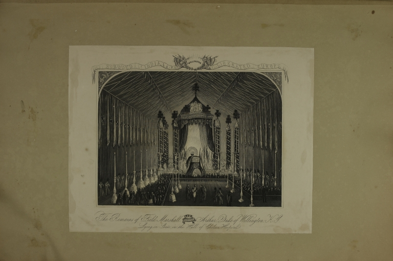 The Remains of Field Marshall Aurthur, Duke of Wellington: Lying in State in the Hall of Chelsea Hospital