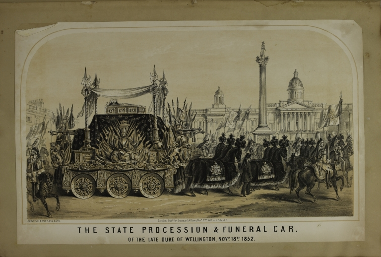 The State Procession and Funeral Car of the Late Duke of Wellington