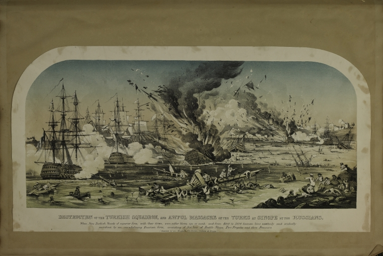 Destruction of the Turkish Squadron and Awful Massacre of the Turks at Sinope by the Russians