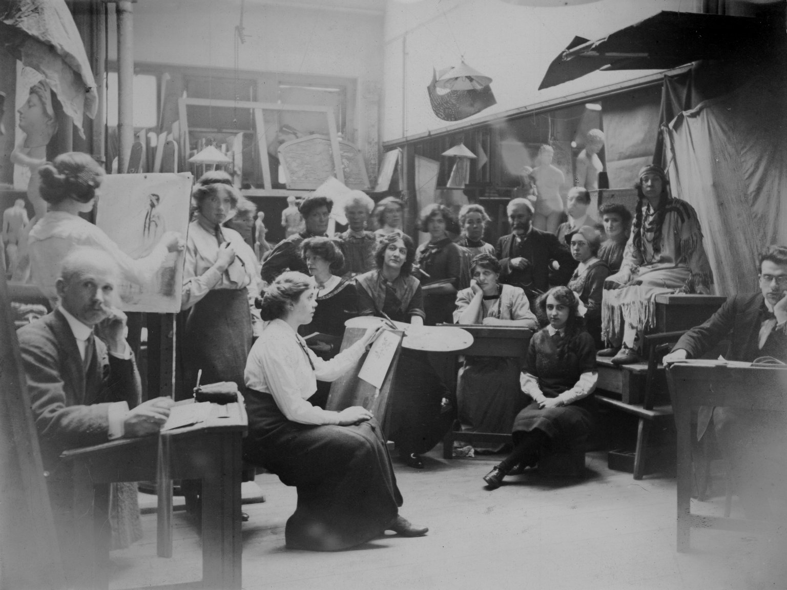 Art class at the Birkbeck Literary and Scientific Institution
