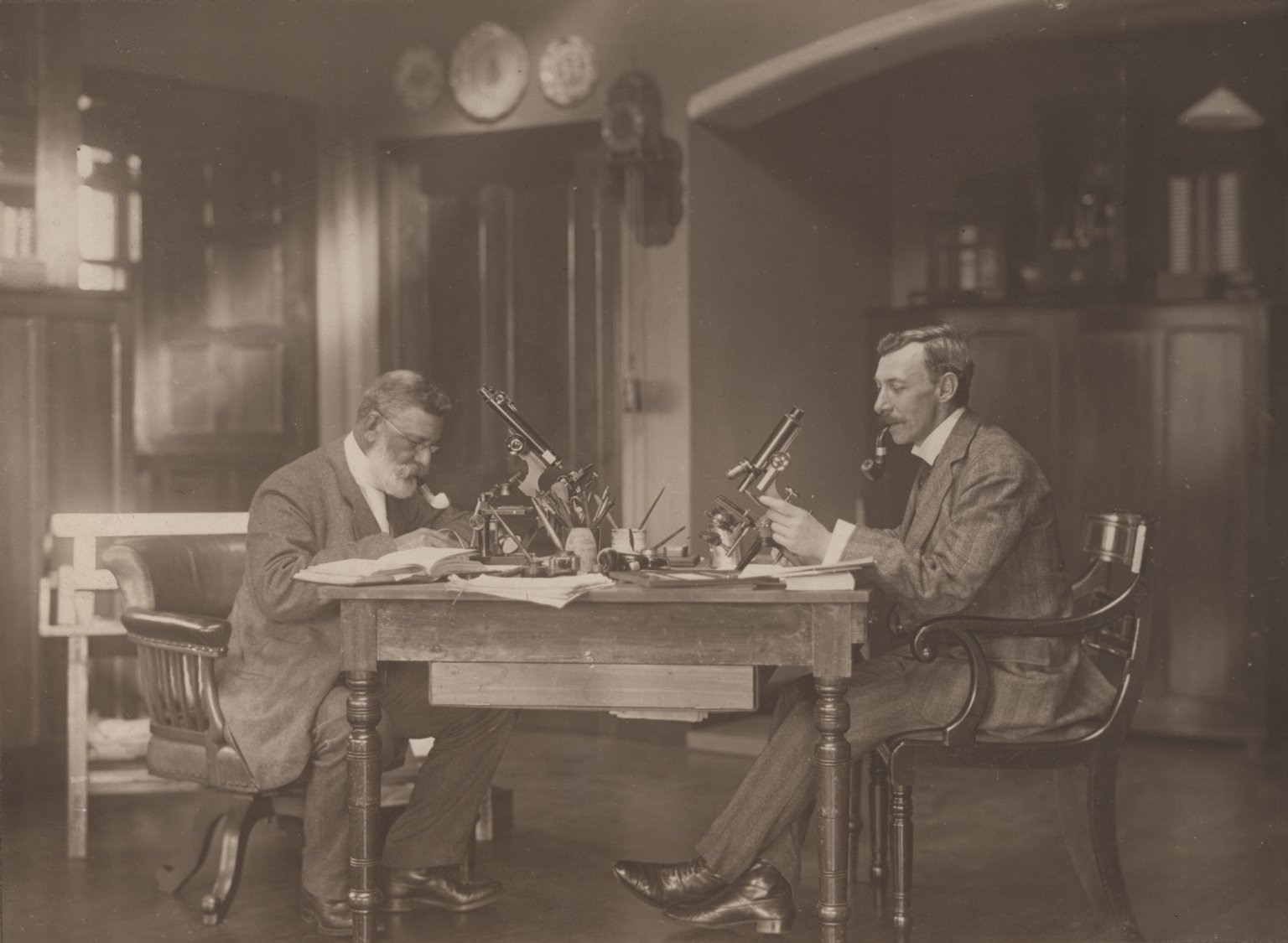 Doctor R. Kingston F.R.S. and Professor D.T. Gwynne-Vaughan